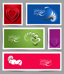 Set of Valentines Day Hearts, eps10 vector