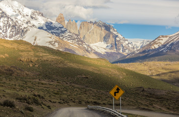 View to 3 towers - Torres del Paine Chile