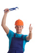Happy builder with spanner