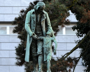 Statue de Pestalozzi à zürich