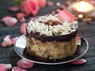 Chocolate and nuts cake