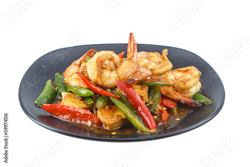 stir fried shrimp with chilli