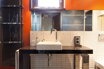 Modern washbasin area