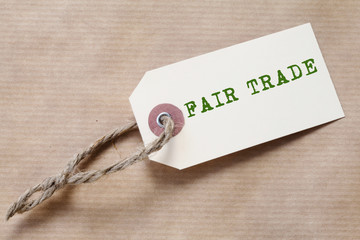"Paper Label ""Fair Trade"""