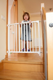 Baby and the stair gate
