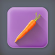 Carrot, long shadow vector icon
