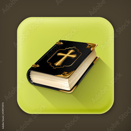 Holy Book, long shadow vector icon