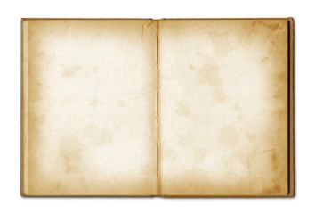 old grunge open notebook