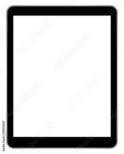 Black Tablet Isolated On White
