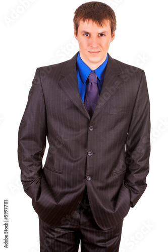 businessman portrait. isolated