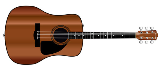 Acoustic Guitar Cutout