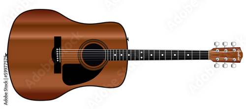 Acoustic Guitar Cutout