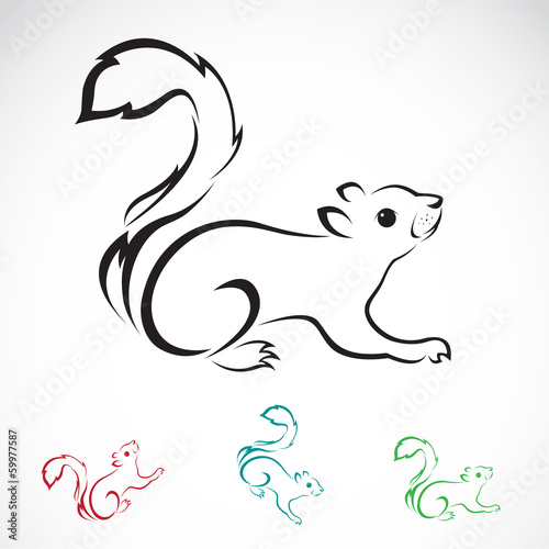 Vector image of an squirrel