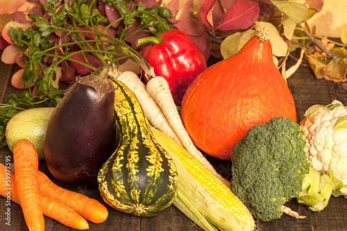 various vegetables in autumn