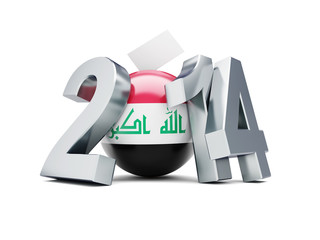 elections in Iraq 2014 on a white background