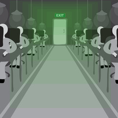 Exit. Green office