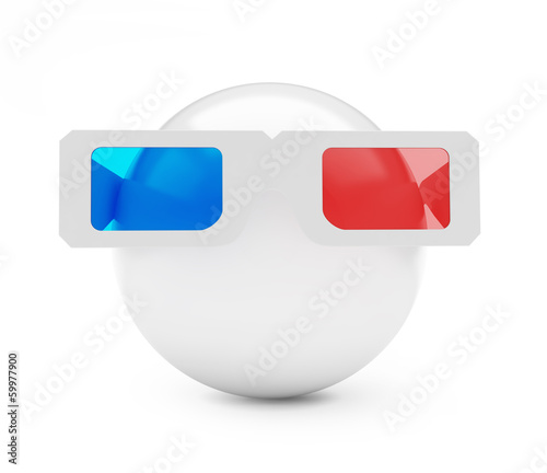 3d glasses ball