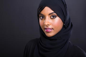 young muslim woman head shot