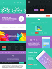 UI is a set of components featuring the flat design trend