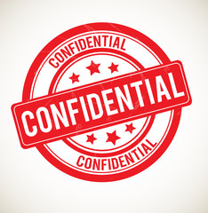 Confidential - vector rubber stamp.
