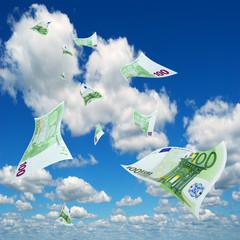 Euro in sky.