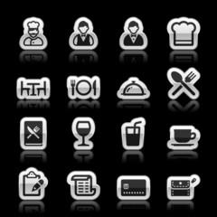 Restaurant icons, vector illustration