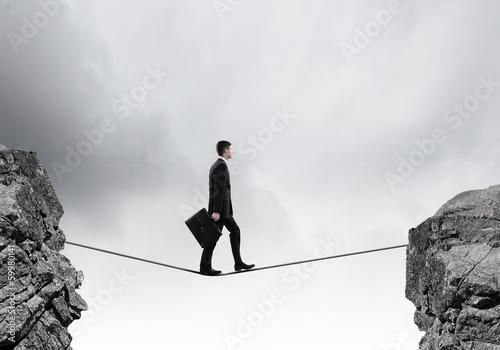 Risky businessman
