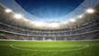 Leinwandbild Motiv Stadion Mittellinie