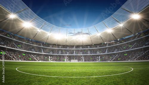 Fotobehang Stadion Stadion Mittellinie