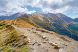 High mountains in Europe. Trail in Tatras, Poland. Ecological re