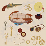 Steampunk, retro set