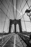 Fototapeta Most - Brooklyn Bridge black and white © sumnersgraphicsinc