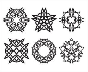 Set of knot design geometric elements