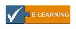 Puzzle-Button blau orange: eLearning