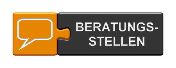 Puzzle-Button orange grau: Beratungsstellen