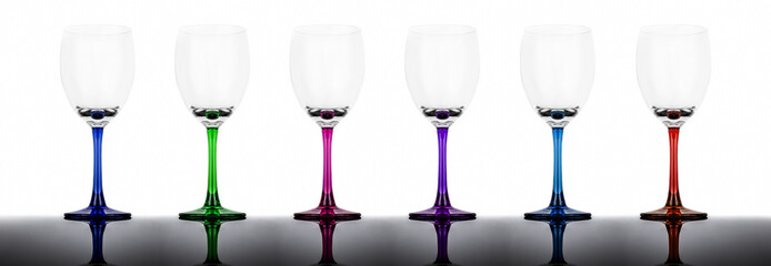 Wineglasses with reflection