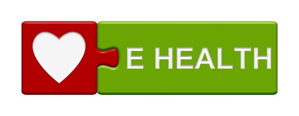Puzzel-Button rot grün: E Health