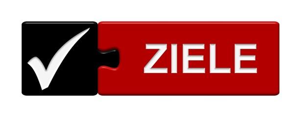 Puzzle-Button schwarz rot: Ziele