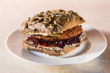 vegetarian hamburger