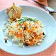 risotto with garlic and rosemary