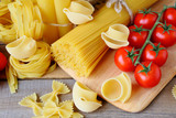 pasta assortment with tomato