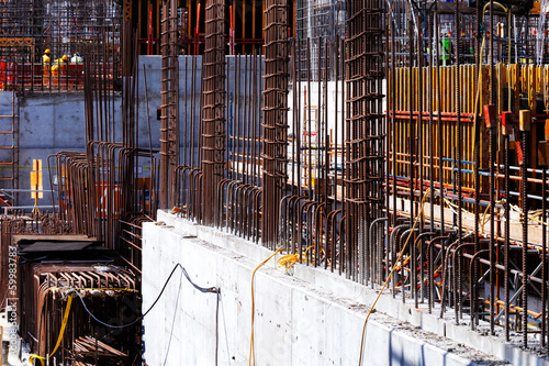 Reinforced concrete gets it's tensile strength from steel bars
