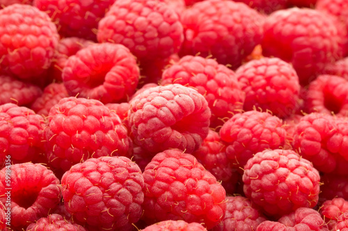 canvas print picture Raspberries