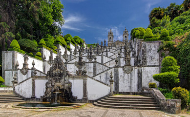 Stairs of Church Bom Jesus do Monte in Braga, Portugal
