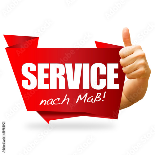 Service nach Maß! Button, Icon