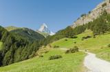 Zermatt, Schweizer Alpen, Matterhorn, Wanderweg, Furi poster