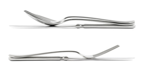 Two cutlery compositions isolated
