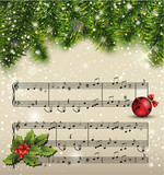 Christmas song.Vector illustration
