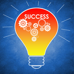 Light bulb with success written on it