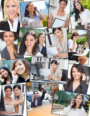 Successful Working Business Women Office Cell Phone